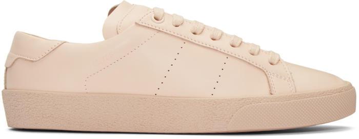 Saint Laurent Pink Court Classic SL-06 Sneakers
