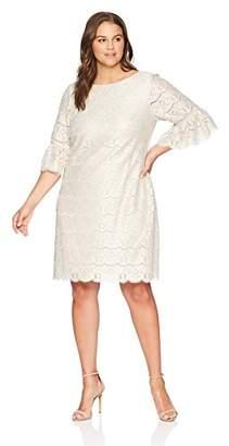 Jessica Howard Plus Size Womens Lace Shift Dress