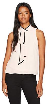 Amy Byer A. Byer Women's Sleeveless Top with Faux Tie