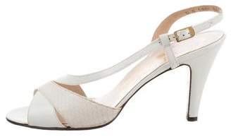 Salvatore Ferragamo Slingback High Heel Sandals
