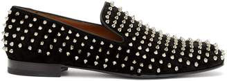 Christian Louboutin Rollerboy velvet studded loafers