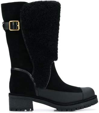 Tory Burch shearling mid-ankle boots