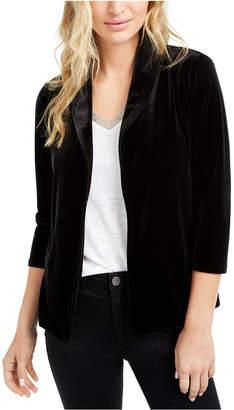 Maison Jules 3/4-Sleeve Velvet Blazer