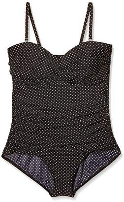Miraclesuit Women's PIN Point - Barcelona Polka Dot One-Piece Swimsuit,(Manufacturer Size: 44)