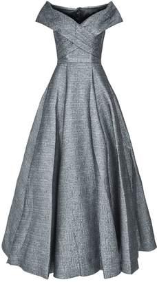 Jovani Metallic Off-The-Shoulder Gown