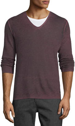 John Varvatos Men's Reverse-Seam Sweater