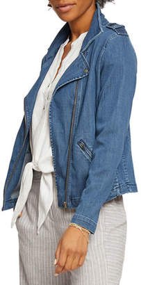 Nic+Zoe Denim Biker Jacket