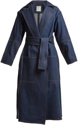 Maison Rabih Kayrouz Notch-lapel denim coat