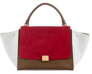 Céline Tri-Color Medium Trapeze Bag