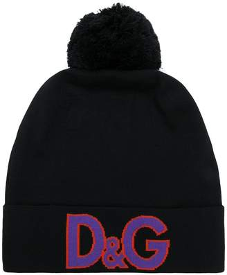 Dolce & Gabbana logo beanie hat