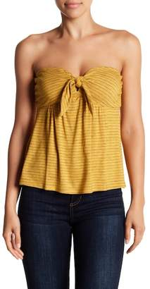 Socialite Strapless Tie Front Top