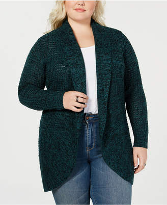 Planet Gold Trendy Plus Size Open Front Cardigan Sweater