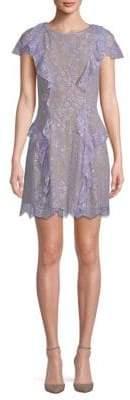For Love & Lemons Mockingbird Ruffle Lace Dress