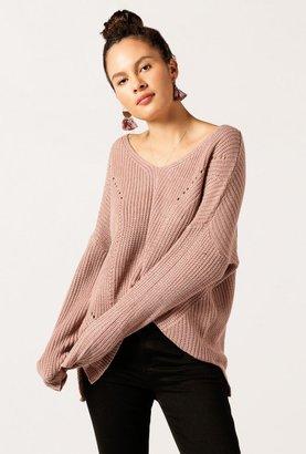 V Neck Oversized Sweater
