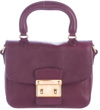 Miu Miu Miu Miu Leather Madras Crossbody