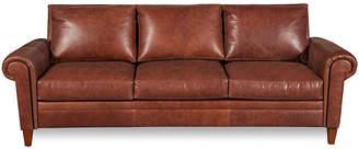 """One Kings Lane Jacoby 91"""" Leather Sofa - Mocha"""