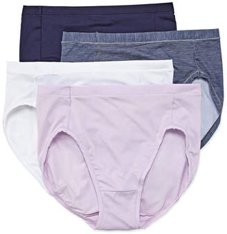 Hanes Ultimate Cool Comfort 4-pc. Microfiber High Cut Panty Hxmfhc
