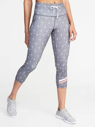 Old Navy High-Rise Printed Compression Crops for Women
