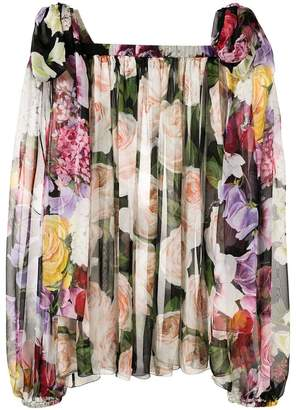 Dolce & Gabbana rose print blouse