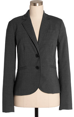 Two-button jacket in stretch wool