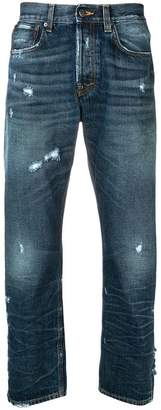 PRPS distressed straight jeans
