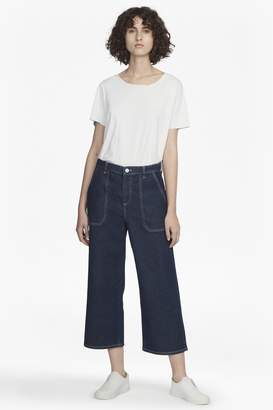 French Connection Cargo Twill Wide Leg Culottes