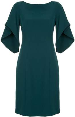 Milly ruffle sleeve midi dress