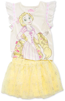 Disney Disney's 2-Pc. Tangled T-Shirt & Skirt Set, Toddler Girls
