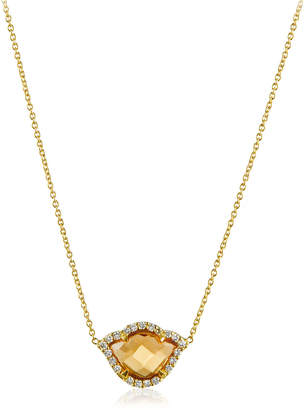 Amrapali Legend Nalika Citrine Lotus Necklace with Diamonds