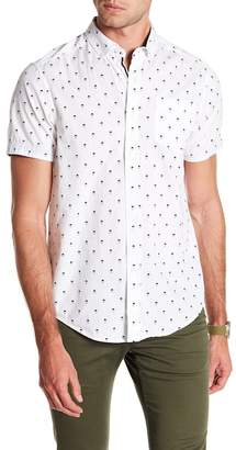 Report Collection Man In a Hat Short Sleeve Slim Fit Shirt
