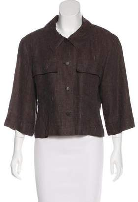 Chanel Cropped Linen Jacket