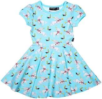 Rock Your Baby Girl's Unicorn Waist Dress