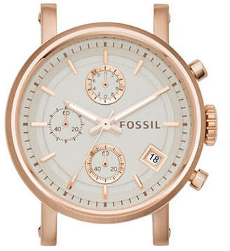 Fossil Boyfriend Chronograph Rose Goldtone Stainless Steel Watch Case