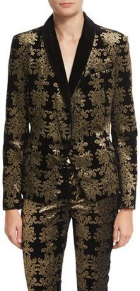 7 For All Mankind Brocade Velvet Blazer $425 thestylecure.com