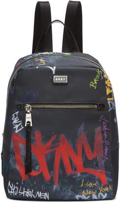 DKNY Gigi Nylon Graffiti Logo Backpack