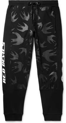 McQ Tapered Logo-Print Loopback Cotton-Jersey Sweatpants