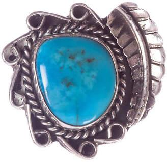 One Kings Lane Vintage Navajo-Style Sterling & Turquoise Ring - Treasure Trove NYC