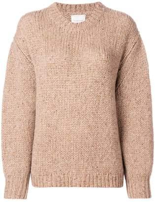 Fine Edge cashmere drop shoulder sweater