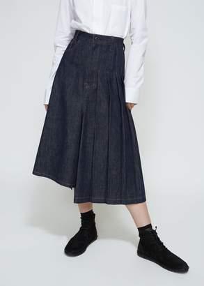 Yohji Yamamoto Y's by Asymmetry Pleats Skirt