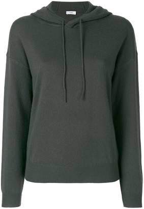 Closed fitted hooded sweatshirt