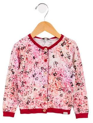 Paul Smith Girls' Printed Knit Cardigan