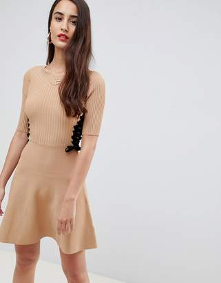 Asos DESIGN skater dress in structured knit