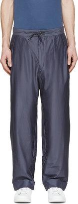 Paul Smith Slate Pleated Pillar Suit Trousers $695 thestylecure.com