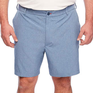 Izod Solid Hybrid Short Mens Stretch Elastic Waist Hybrid Short-Big and Tall