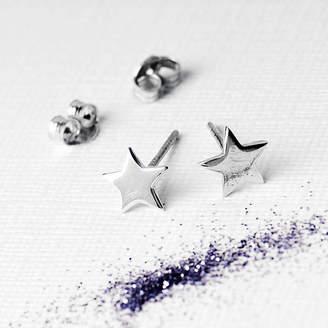 Petite Star Grace & Valour Silver Earrings On Bespoke Gift Card