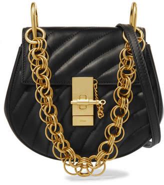 Chloé Drew Bijou Quilted Leather Shoulder Bag - Black
