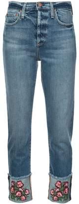 Alice + Olivia Alice+Olivia Big Blooms embellished jeans