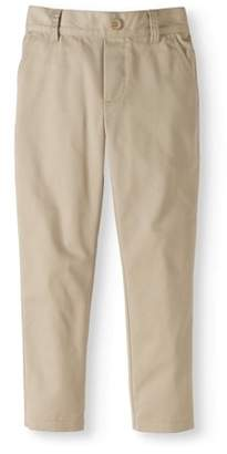 Cherokee Boys School Uniform Twill Pull On Pants with Elastic