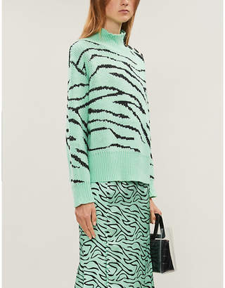 Olivia Rubin Lyla animal-pattern sequins knitted jumper