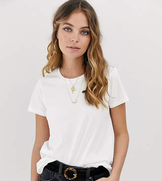 Asos DESIGN Petite ultimate t-shirt with crew neck in white